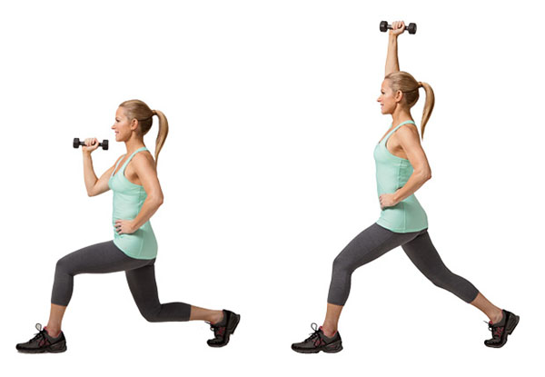 10 Minute Workout, Ten Minute Workout, Abs, Crunches, Hip Bridge with a Crunch, Lunge with a Press, Workouts at Home, Body Weight Exercises
