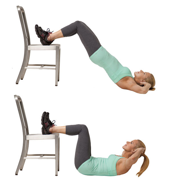 10 Minute Workout, Ten Minute Workout, Abs, Crunches, Hip Bridge with a Crunch, Hip Raises, Home Exercise, Workouts at Home, Body Weight Exercses