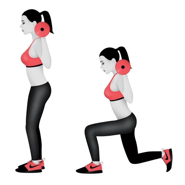 EXERCISE 5 WALKING LUNGE